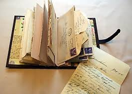 Ideas for binding letters into books. This is also a great post regarding  the various