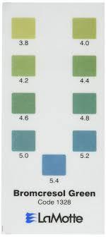 Lamotte 1328 Soil Ph Test Kit Color Chart Bromcresol Green