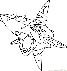 Small Picture Mega Sharpedo Pokemon Coloring Page Free Pokmon Coloring Pages