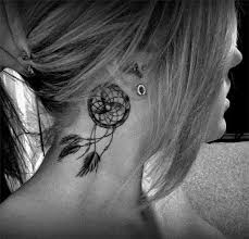 Dream Catcher Tattoo On Neck