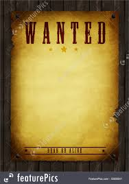 Photo Of Wanted Poster