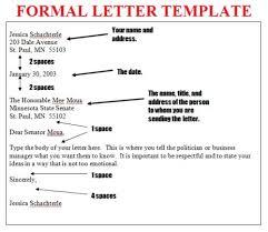 Example Of A Formal Letter Format 4 Reinadela Selva