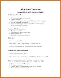 6 Apa Style Resume Professional Resume List