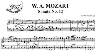 mozart piano sonata sheet music mozart sonata no 12 in f major k 332 piano sheet music download