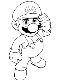Small Picture Awesome Mario Coloring Pages To Print 64 For Your Free Coloring