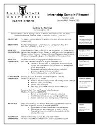 curriculum vitae for internship hr internship curriculum vitae templates at