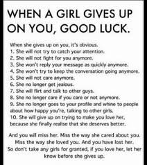 Good Girl Quotes Fascinating Quotes WHEN A GIRL GIVES UP ON YOU GOOD LUCK