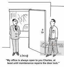 Open Door Policy Cartoons and Comics funny pictures from CartoonStock