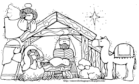 Small Picture Coloring Pages Of Baby In The Stable Coloring Pages