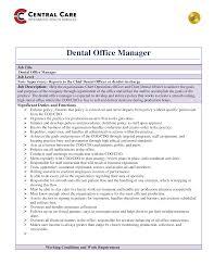 Dentist Office Manager Job Description Templates At