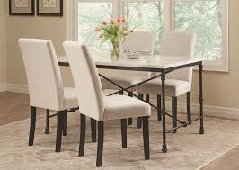 Industrial Dining Room Table Coaster Nagel Industrial Dining Table With Faux Marble Top