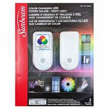 Sunbeam Night Light Sunbeam Colour Led Motion Sensor Auto Dimming Power Night Light 2 Pack