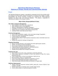 Objective For Warehouse Worker Sample Resume Warehouse Image