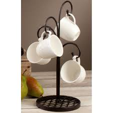 Coffee Cup Rack Under Cabinet Coffee Mug Holders And Mug Trees Organize It