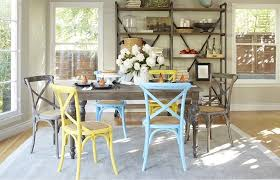 shabby chic dining room furniture. Mismatched Seating Shabby Chic Dining Room Furniture A