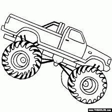 Small Picture Monster Truck Coloring Pages For Kids High Resolution Coloring
