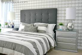 upholstered headboard bed. Exellent Headboard DIY Upholstered Headboard Intended Bed E