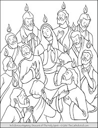 Small Picture Pentecost Sunday Coloring Page