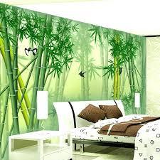 3d wall painting custom mural wallpaper modern green bamboo wall painting art mural living room bedroom 3d wall painting