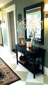 W Entry Hallway Table Furniture Front Hall  Decor Charming