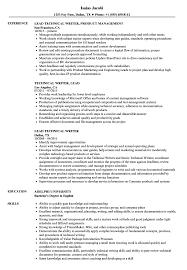 Technical Lead Technical Writer Resume Samples Velvet Jobs