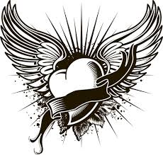 Small Picture Cool heart with wings coloring pages ColoringStar