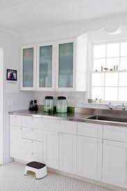 white cabinets with stainless steel countertops. Sleek Stainless Steel Countertop Ideas Quick Guide Sebring Services To White Cabinets With Countertops