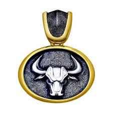<b>Подвеска</b> «<b>Знак зодиака</b> Телец» из золочёного серебра ...
