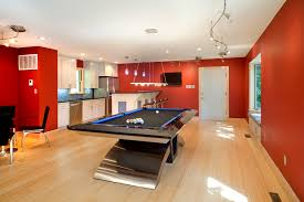 red track lighting. rustic billiard lights family room contemporary with track lighting ceiling red walls
