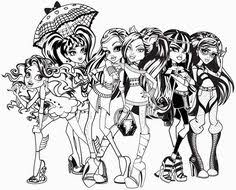 Small Picture Monster High Free Printable Coloring Pages Coloringpagesfun