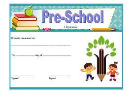 free preschool certificates diploma certificate for preschool free printable 1 one package
