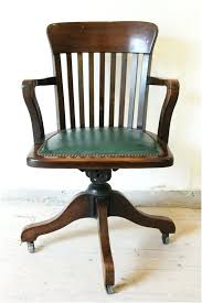 antique wooden desk chair on wheels solid wood rolling desk chair