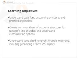 Nonprofit Chart Of Accounts Nonprofit Accounting Overview For Accountants