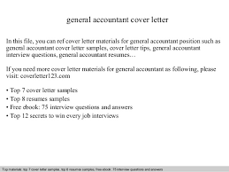 General Accountant Cover Letter