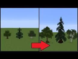 minecraft how to make better trees play