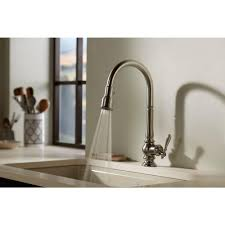 Whole Kitchen Faucet Kohler Artifacts Single Handle Pull Down Sprayer Kitchen Faucet In