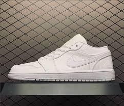"<b>2019 Summer Air</b> Jordan 1 Low ""Triple White"" Shoes 553558-112"