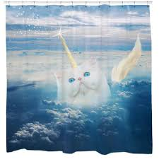 funny shower curtain. Caticorn, Cat Shower Curtain Funny I