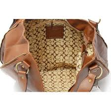 ... Coach Outlet City Logo Large Brown Hobo ...