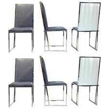 blue and white chair. Liwan\u0027s 1970s Italian Six Brass And Chrome Modern Blue White Chairs \u2013 Cosulich Interiors \u0026 Antiques Chair T