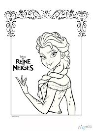 Coloriage Reine Des Neiges Portrait D Elsa Momes Net