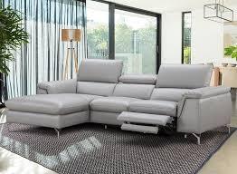 left facing chaise serena light gray