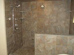 Open Shower Bathroom Doorless Walk In Shower Remodeling Ideas Kitchen Food Storage