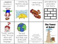 Small Picture Tower of Babel Printables