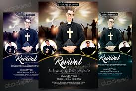 revival church pastor psd flyer template on behance