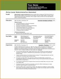 79 Resume Template Executive Assistant Resume Sample Personal