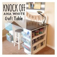 DIY Ana White Craft Table knock off for under $75!! By Mommy Makes Things