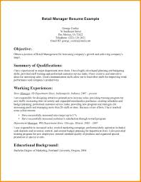 Department Store Manager Resumes Resume Retail Store Manager Resume Examples