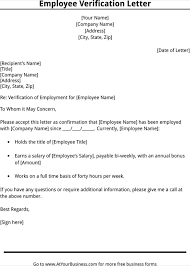 Employment Verification Letter Template Word Employment Verification Letter Template Employment Letter