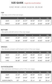 Size Chart Graciafashion